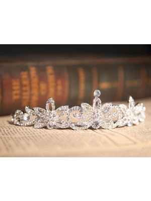 Gorgeous Clear Kristalles Flower Wedding Party Headpiece