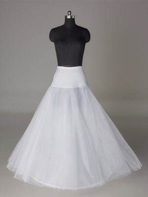 Tüll Netzting A-Line 2 Tier Floor Length Slip Style Wedding Petticoat