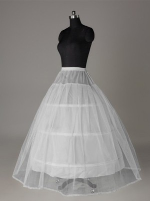 Tüll Netzting Ball-Gown 2 Tier Floor Length Slip Style Wedding Petticoat