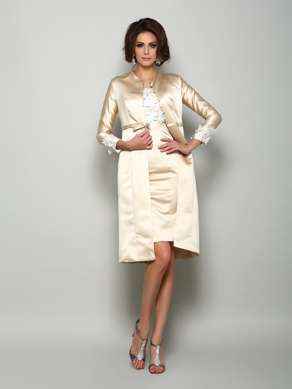 Satin Lange Ärmel Applikationen Special Occasion Fashion Wrap