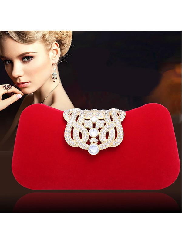 Elegant Strasssteine Pillow Party/Evening Bag