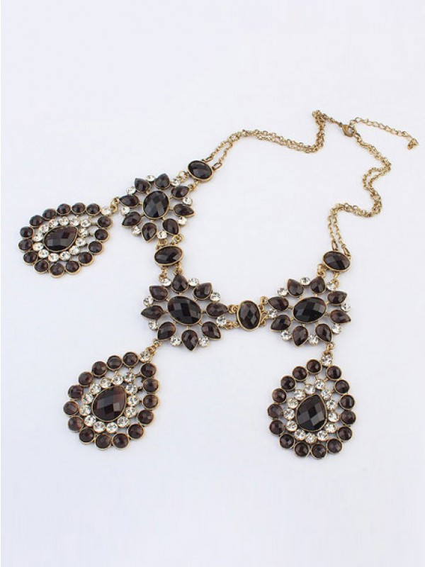 Occident Bohemia Retro Water Drop Fashion Necklace