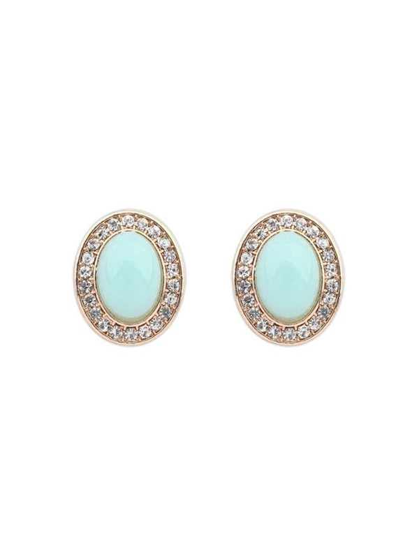 Occident Fashionable Oval All-match Stud Fashion Earrings