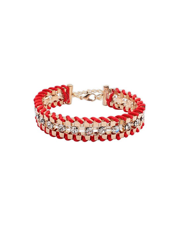 Occident Ethnic Customs Woven Strasssteine Fashion Bracelets