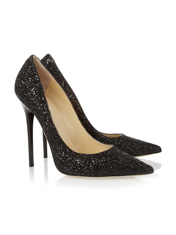 Closed Toe Stiletto Heel With Pailletten Party & High Heels