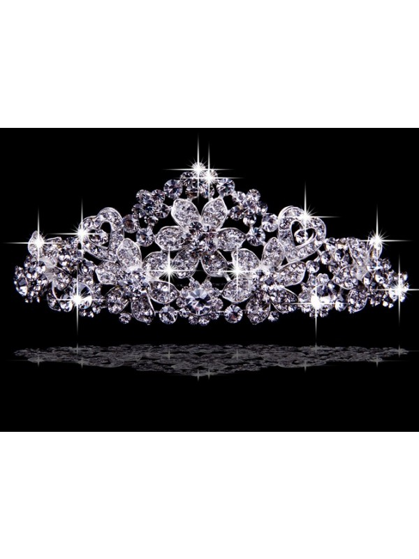 Very Brilliant Alloy With Czech Rhinestones Wedding Headpieces