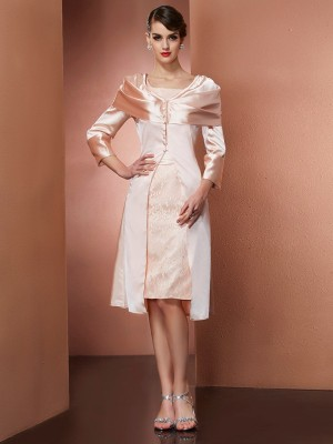 Stretch-Satin Lange Ärmel Special Occasion Fashion Wrap
