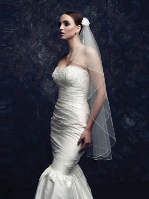 Elegant Tüll With Flower Bridal Veils
