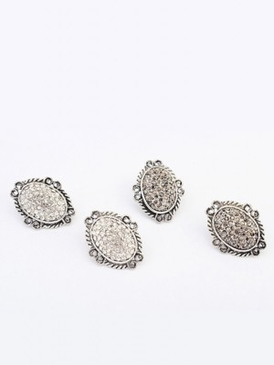 Occident Exotic Retro Oval Stud Fashion Earrings